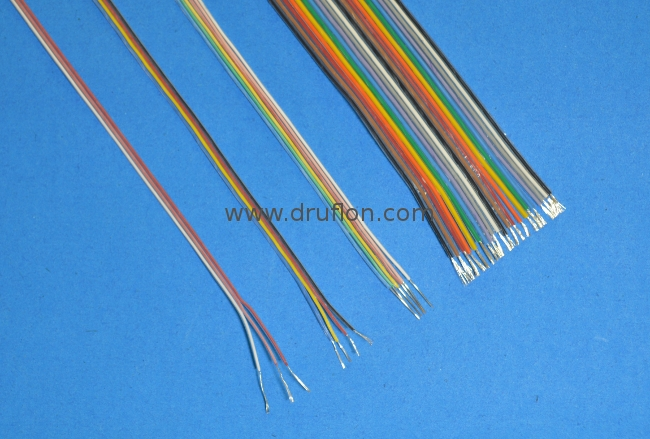 PTFE Insulated Flat Ribbon Cables